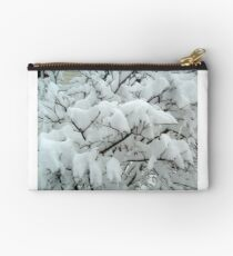 Tiny Branches Covered In Snow Studio Pouch