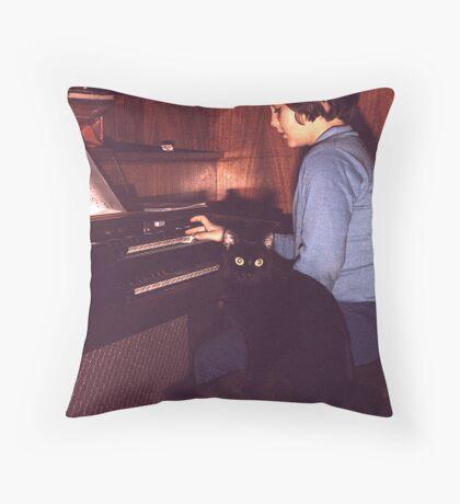 Musician and Friend Throw Pillow