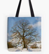 Winter Snow Scene Tote Bag