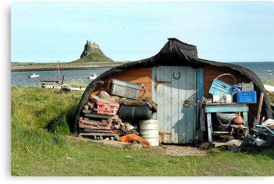 Lindisfarne Boatshed by Jackie Wilson