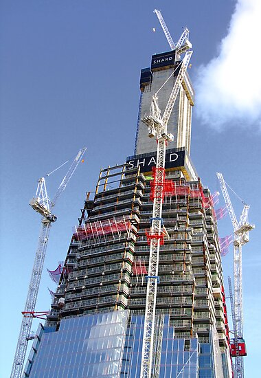 Crane Driver Anyone ?? - The Shard London Bridge by Colin  Williams Photography