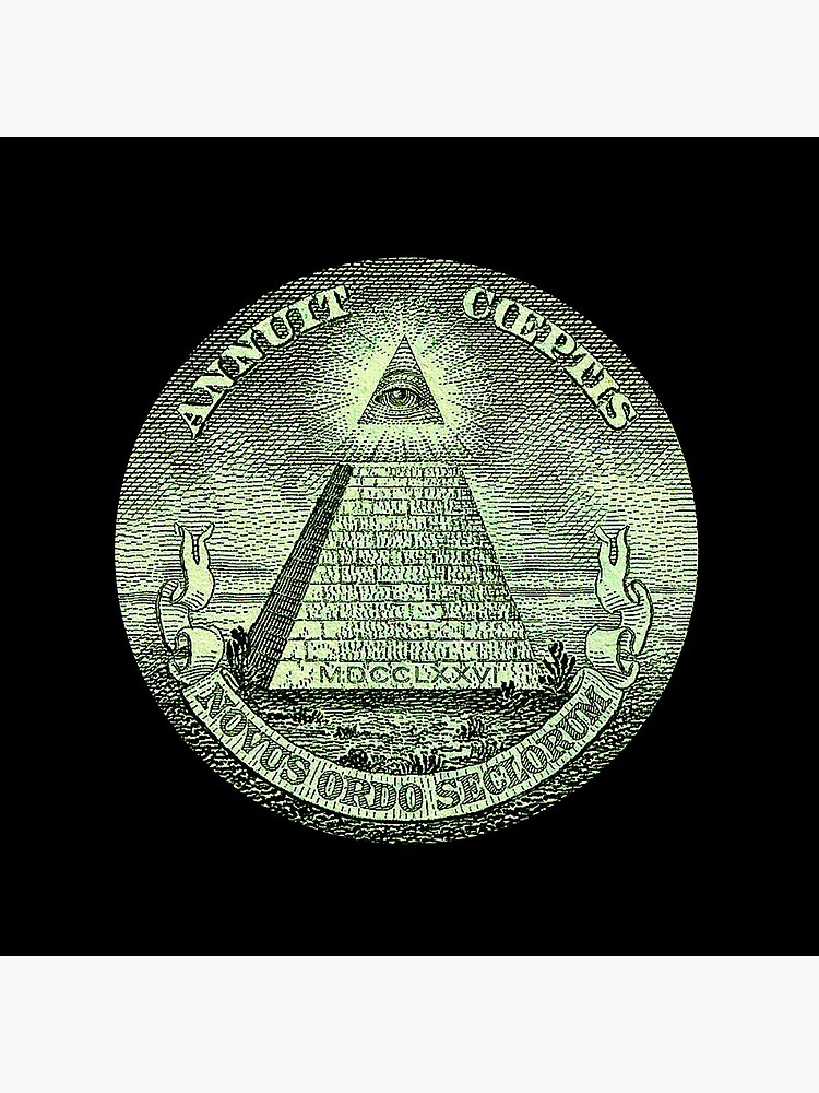 Eye of Providence, America, USA, Mystic, Dollar, Bill, Money, Freemasonry, All Seeing Eye, Pyramid, Masonic. by TOMSREDBUBBLE