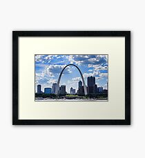 St Louis City Skyline. Framed Print