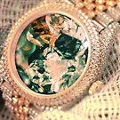 Retro Cosmic Crystal Golden Watch by Zach Murray