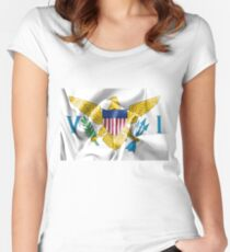 United States Virgin Islands Flag Women's Fitted Scoop T-Shirt