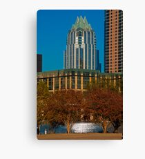 Colorful Frost Bank Tower over Town lake Canvas Print