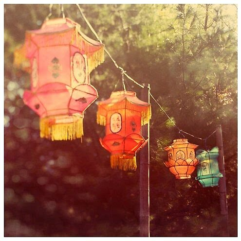 Lanterns above by Eloise Moore