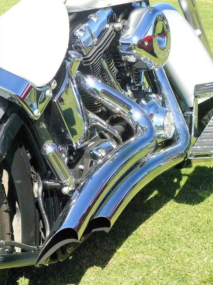 Chrome and White Leather by elsha