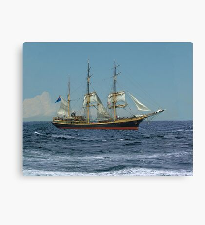 Under Short Sail Canvas Print