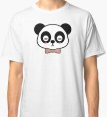 Blushing panda with a bowtie  Classic T-Shirt