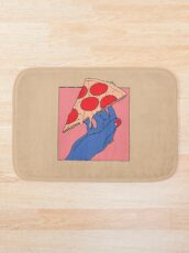 Pizza love Bath Mat
