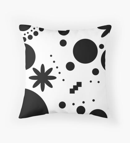 Mpattern White/Black Throw Pillow