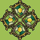 Four Turtles Mandala by mintdawn