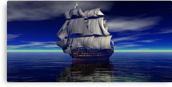 HMS Victory Trafalgar Bound by Tanya Newman