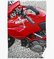 Red Ducati Poster