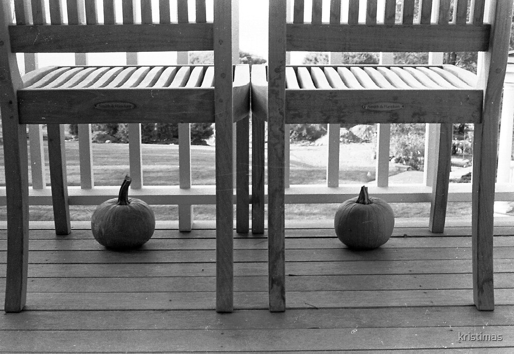 Two Pumpkins Two Chairs by kristimas