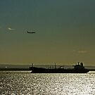 The Jet, The Tanker And The Midnight Sun by Raoul Isidro