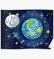 Earth Planet Poster