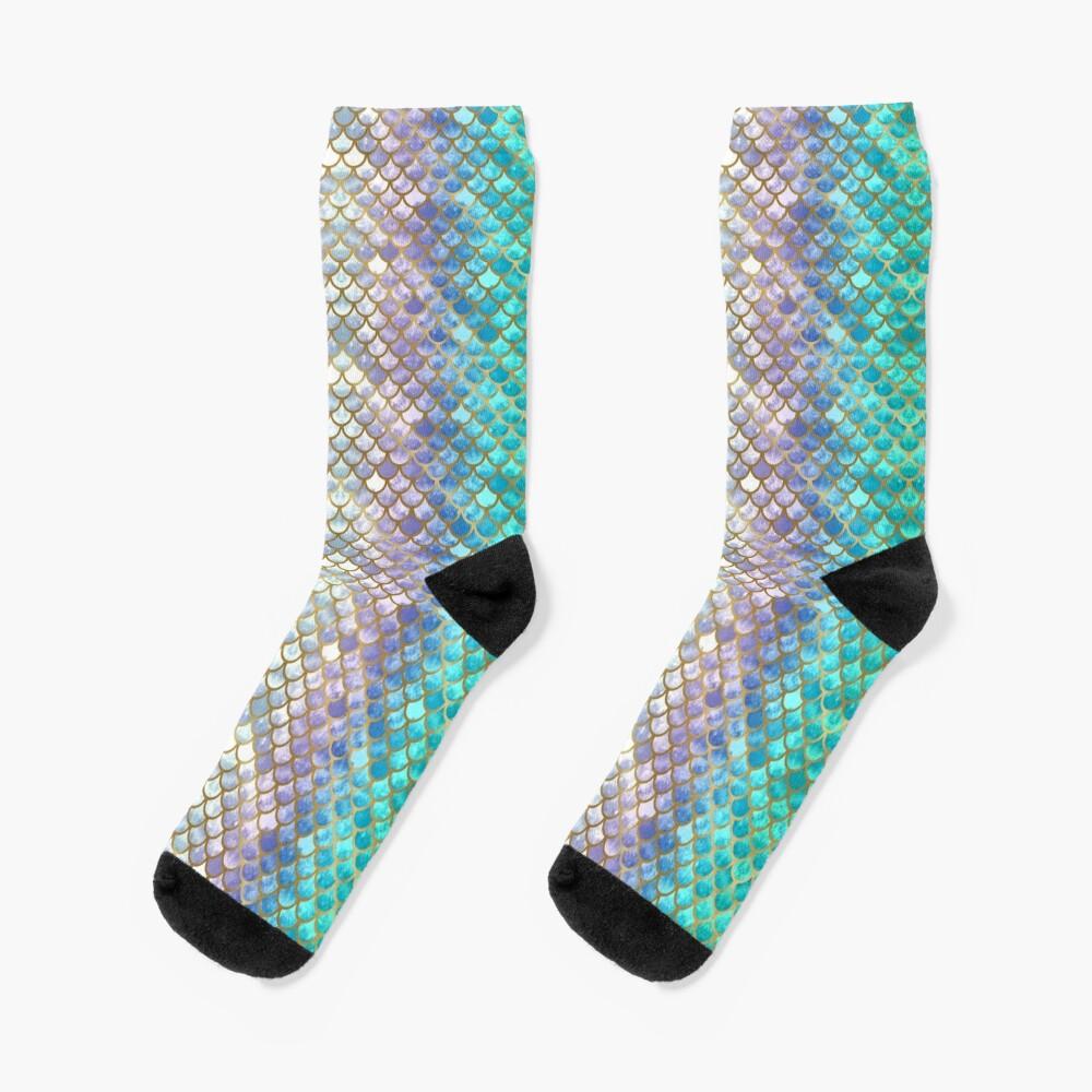 Pretty Mermaid Scales 38 Socks