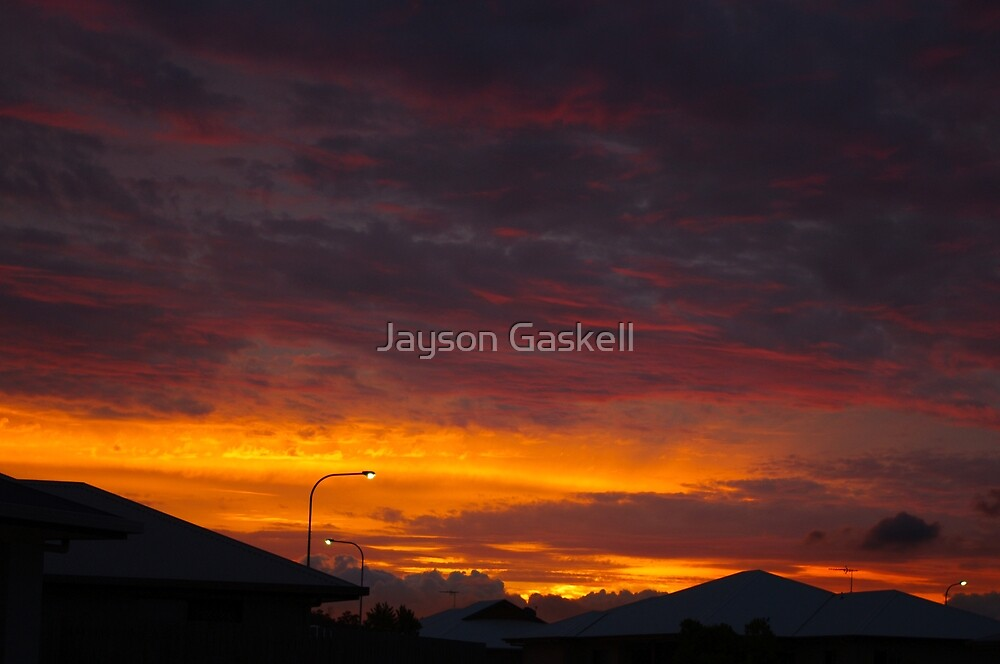 Sunset over the roof by Jayson Gaskell