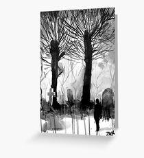 grave yard Greeting Card