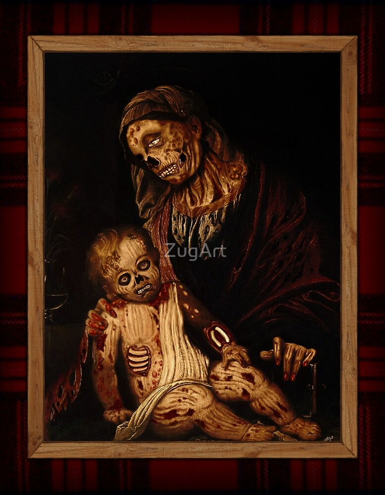'round yon virgin zombie and child by ZugArt