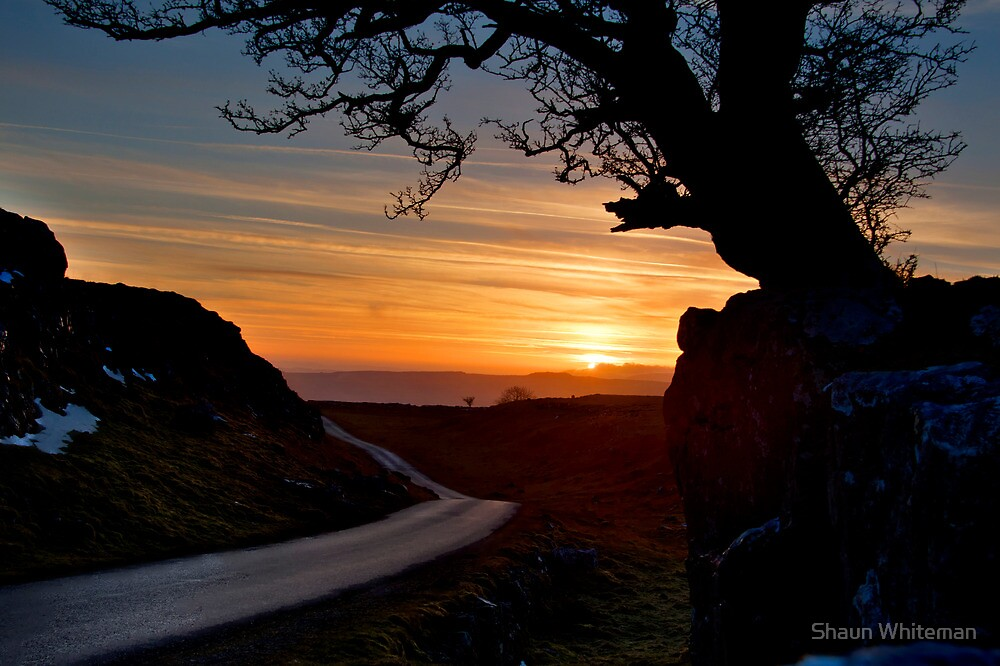 The road to Settle at sunset by Shaun Whiteman