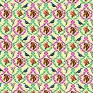 Vintage grandma style wallpaper pattern by Elisandra Sevenstar