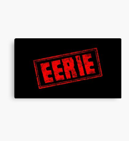 Eerie (Vintage Stamp) Canvas Print