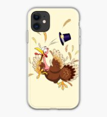 Funny Turkey escape Thanksgiving Character iPhone Case