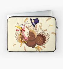Funny Turkey escape Thanksgiving Character Laptop Sleeve