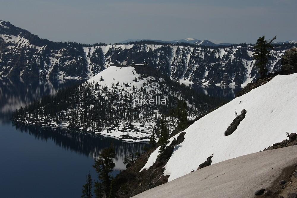 Crater Lake Snow by pixella