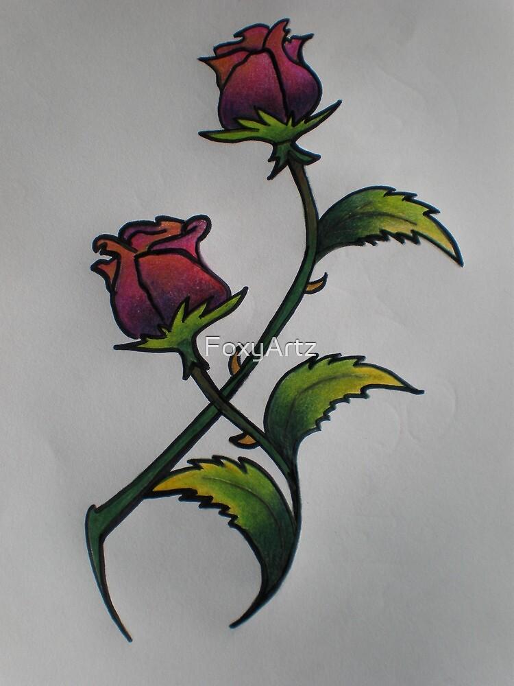 Roses  by FoxyArtz