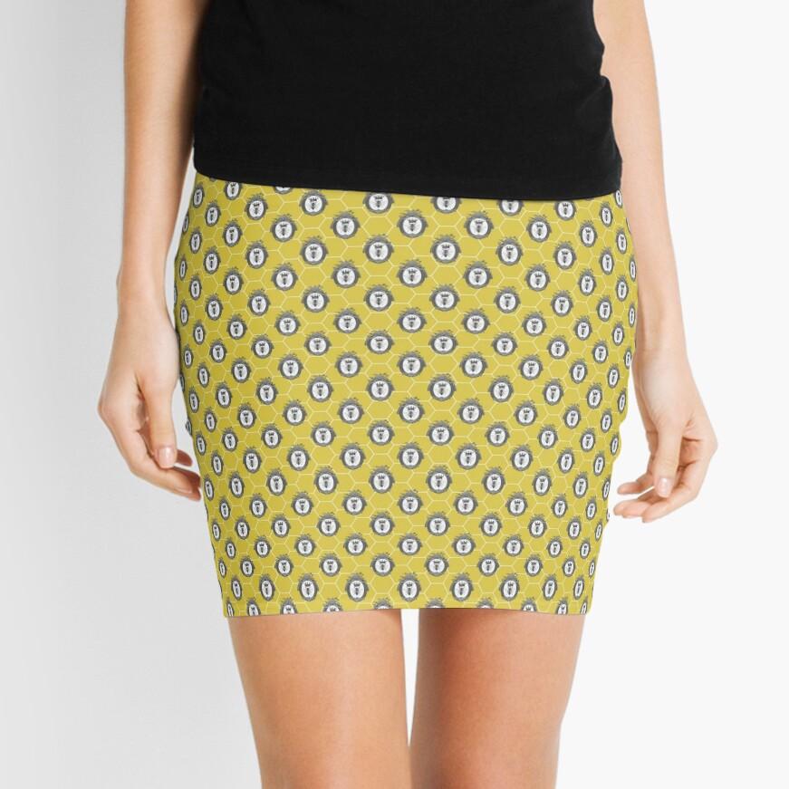 Queen Bee | Vintage Honey Bees | Honeycomb Patterns |  Mini Skirt