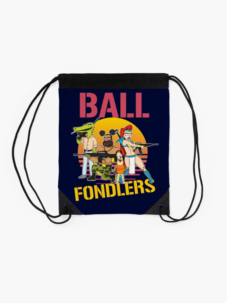Alternate view of Rick and Morty Ball Fondlers TV Series T-shirt Drawstring Bag