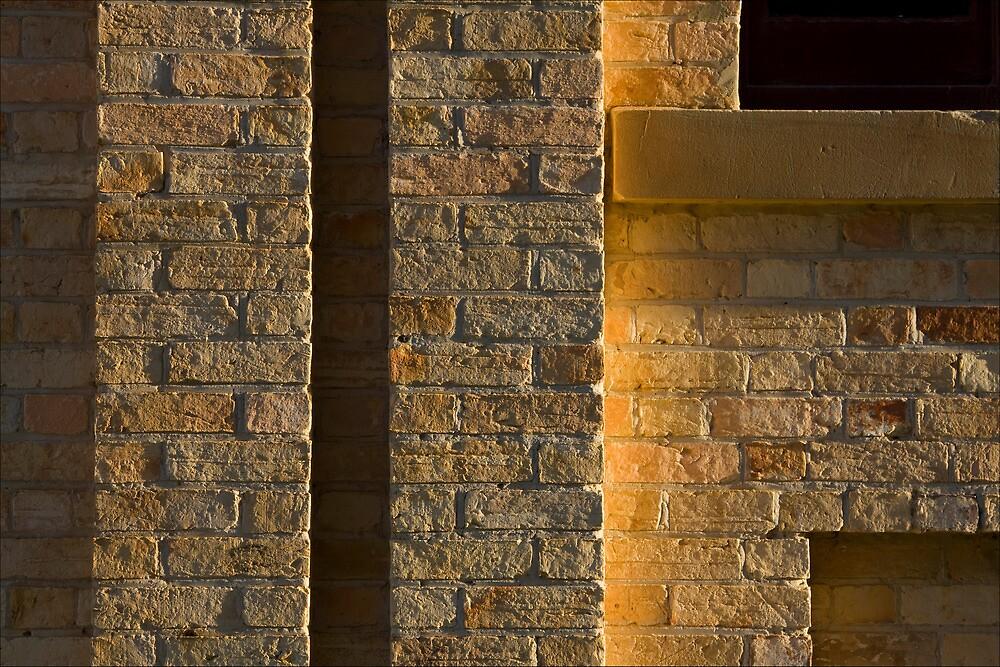 Sunlit bricks, Port Arthur, Tasmania by pfleur