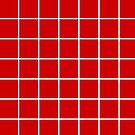 Red & White Square Grid Illusion by EvePenman