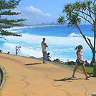 Burleigh Heads Queensland Gold Coast Australia  by Virginia McGowan