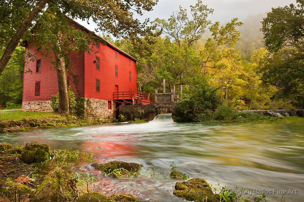 Alley Spring Mill by Gregory Ballos