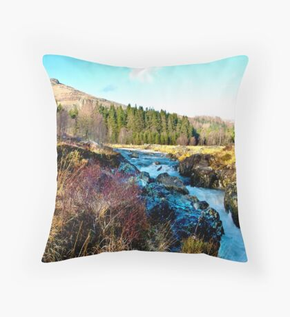 White Water on The River Duddon Throw Pillow