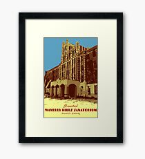Waverly Hills Sanatorium Art Deco Framed Print