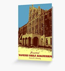 Waverly Hills Sanatorium Art Deco Greeting Card