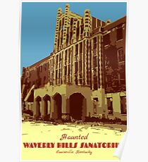 Waverly Hills Sanatorium Art Deco Poster