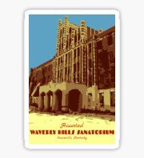 Waverly Hills Sanatorium Art Deco Sticker