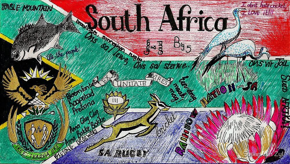 South Africa Doodle by Susan van Zyl