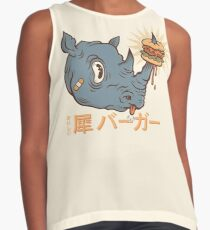 Rhino Burger Kanji Sleeveless Top