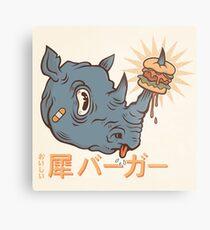 Rhino Burger Kanji Metal Print
