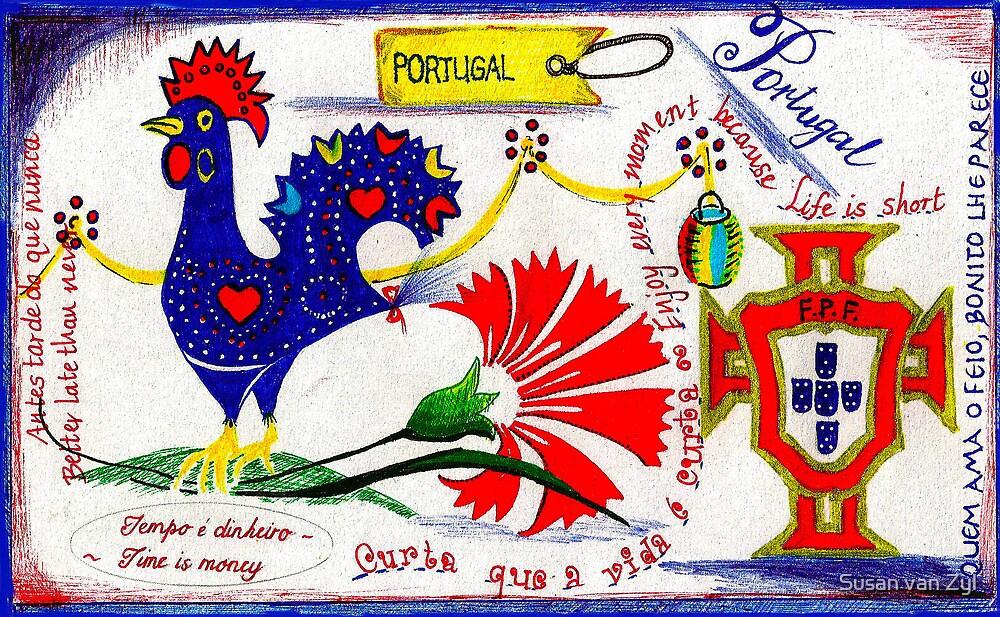 Portugal Doodle by Susan van Zyl