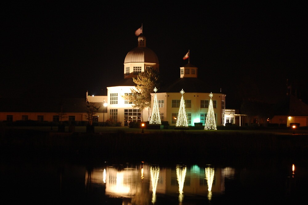 City Hall in Suisun - Christmas 2010 by Howard Lorenz