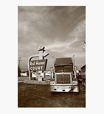 Route 66 - Rest Haven Motel Photographic Print